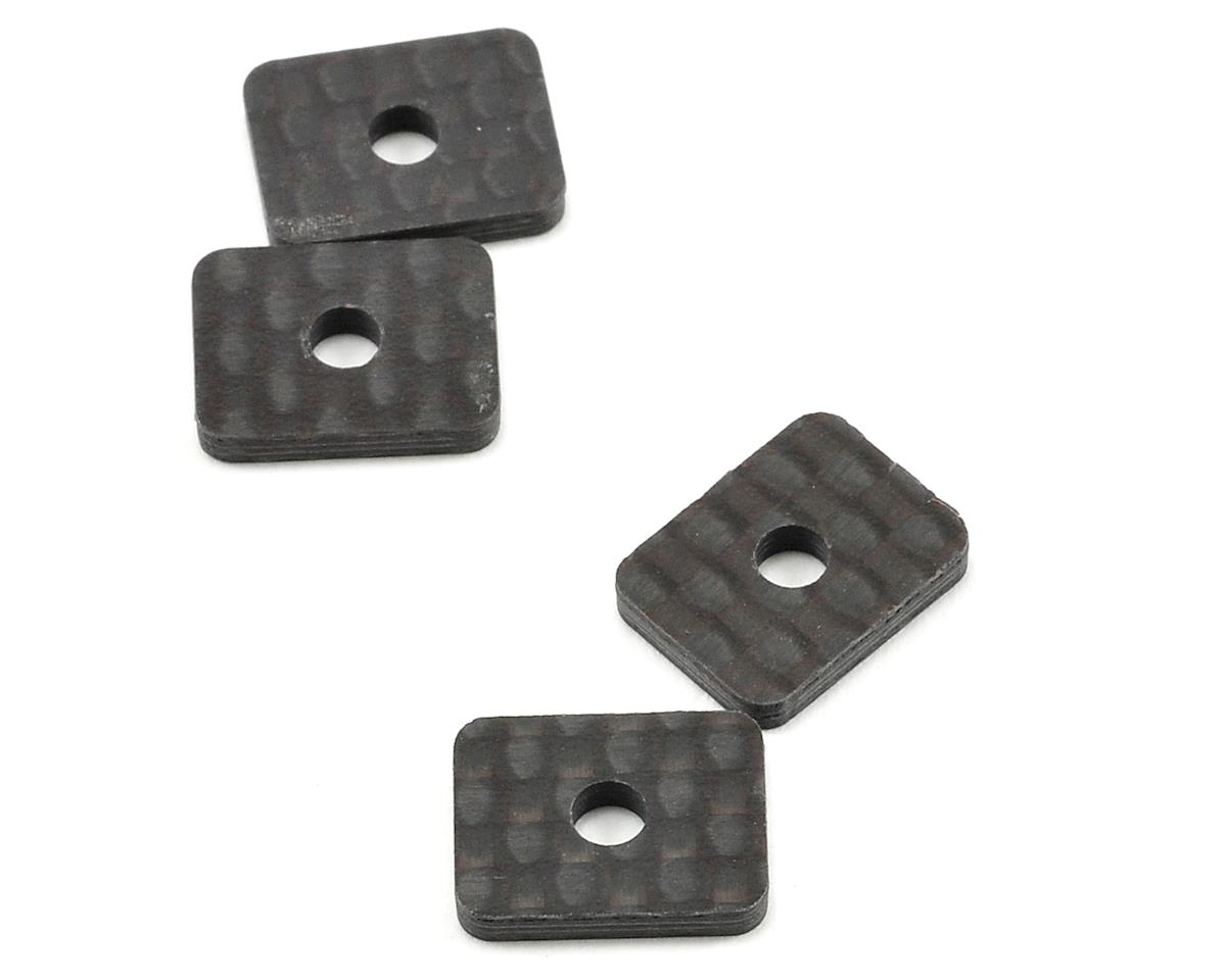 Schumacher Carbon Fiber LiPo Micro Battery Locater Tab Set (4)