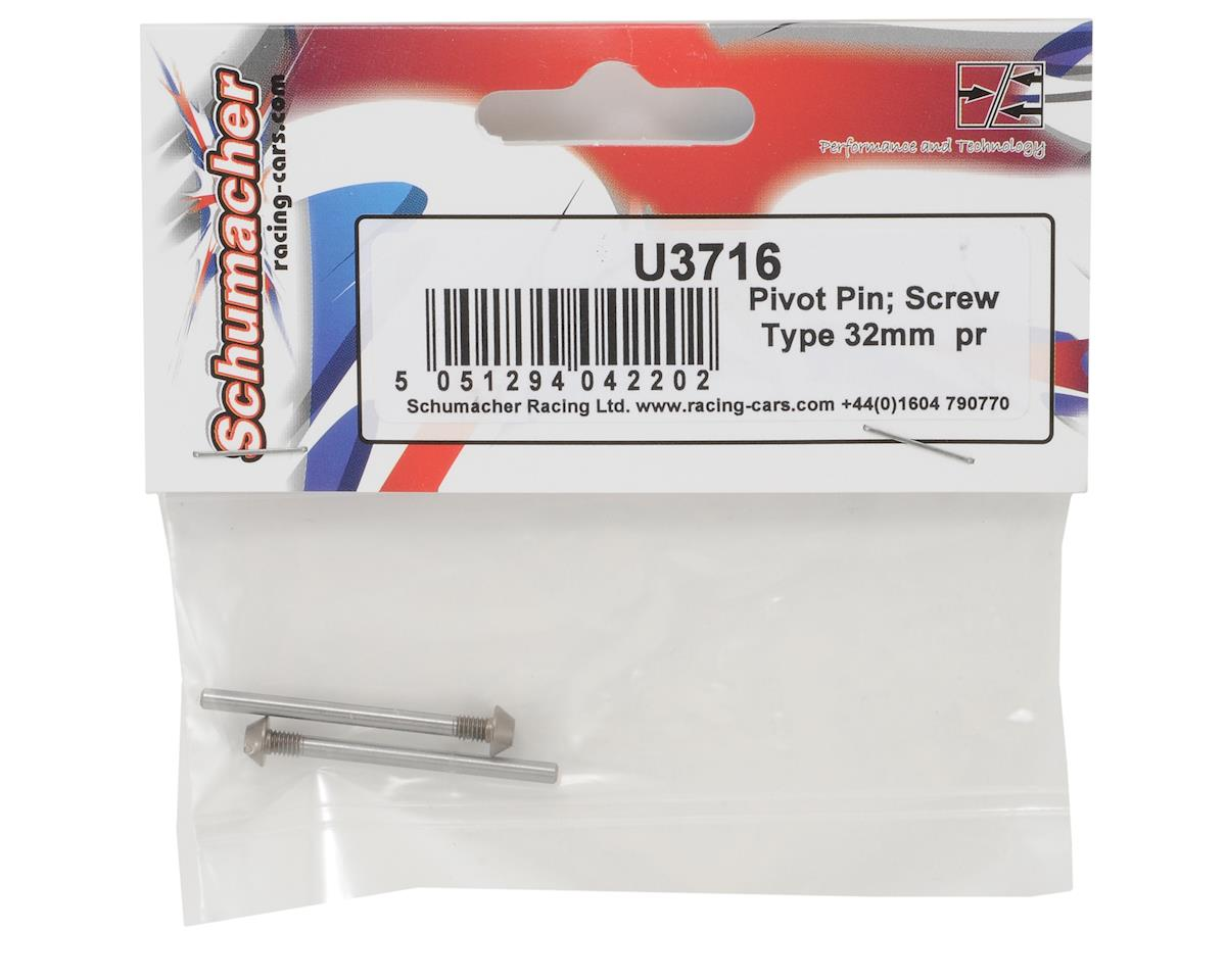 Schumacher 32mm Rear Outer Hinge Pin Set (2)