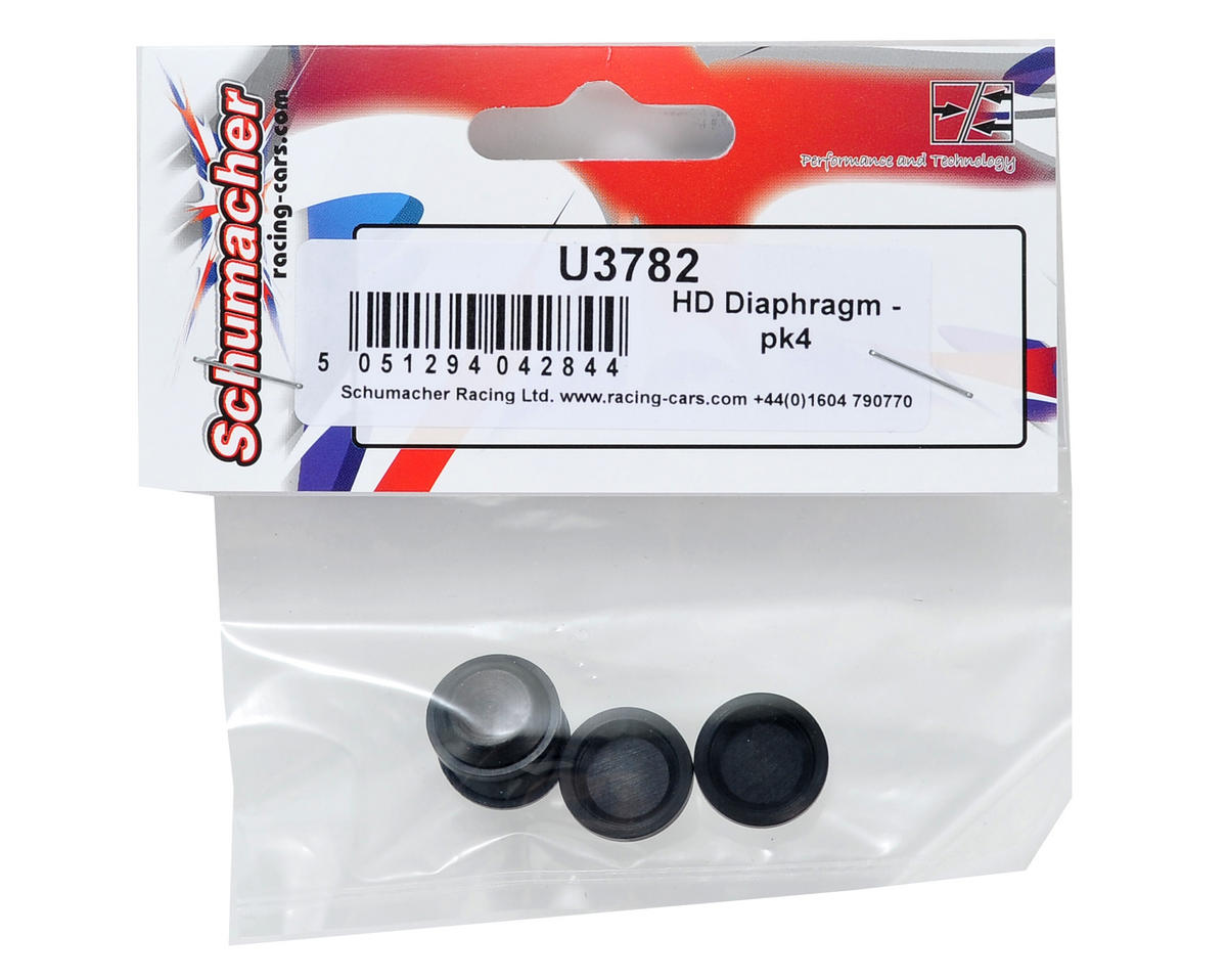 Schumacher HD Big Bore Shock Diaphragm Set (4)