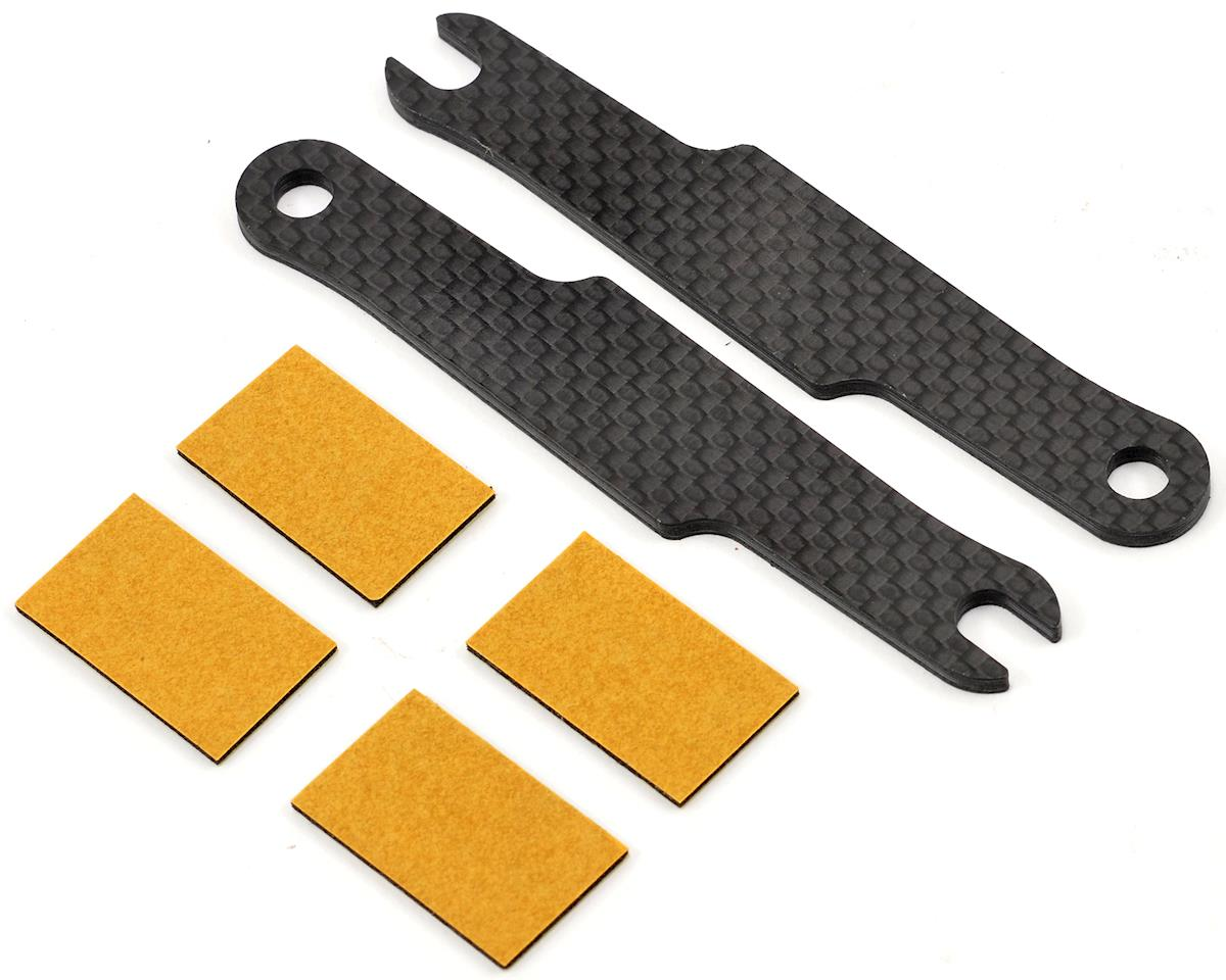 Schumacher Carbon Fiber LiPo Battery Strap & Adhesive Pad Set