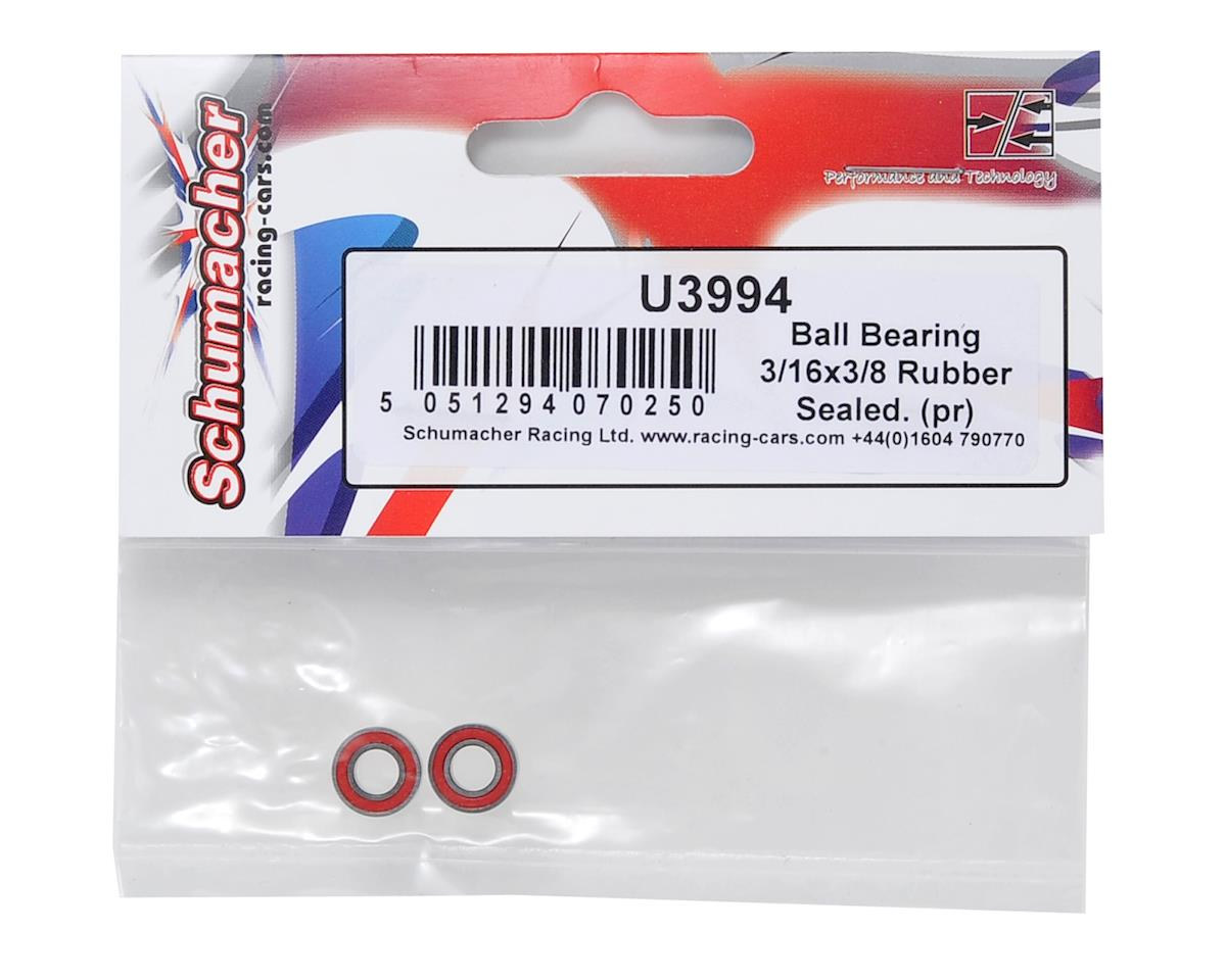"3/16x3/8"" Rubber Sealed Ball Bearing Set (2) by Schumacher"