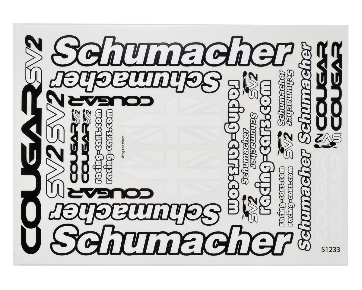 Schumacher Cougar SV2 Decal Sheet Set (2)