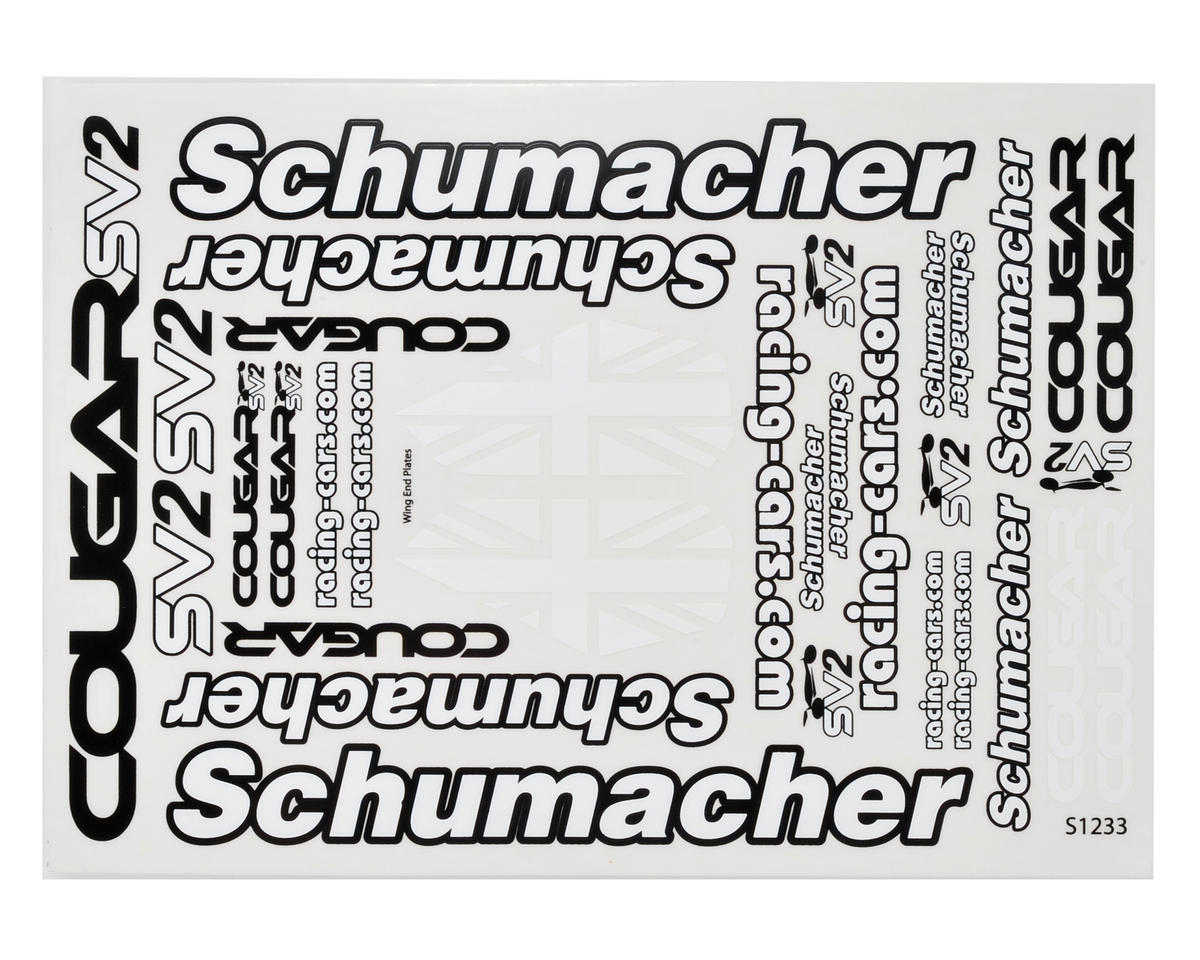 Cougar SV2 Decal Sheet Set (2) by Schumacher