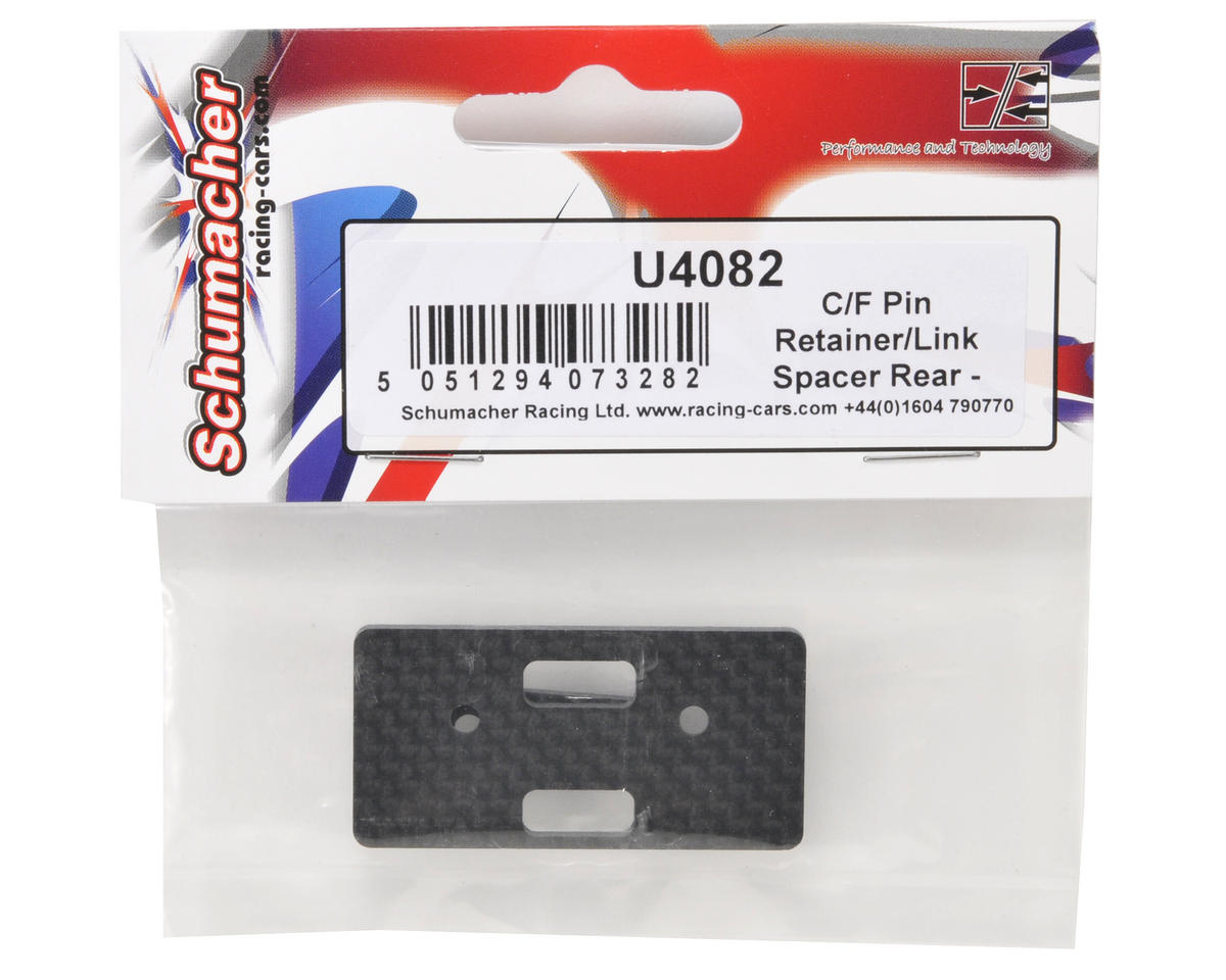 Carbon Fiber Rear Pin Retainer/Link Spacer by Schumacher