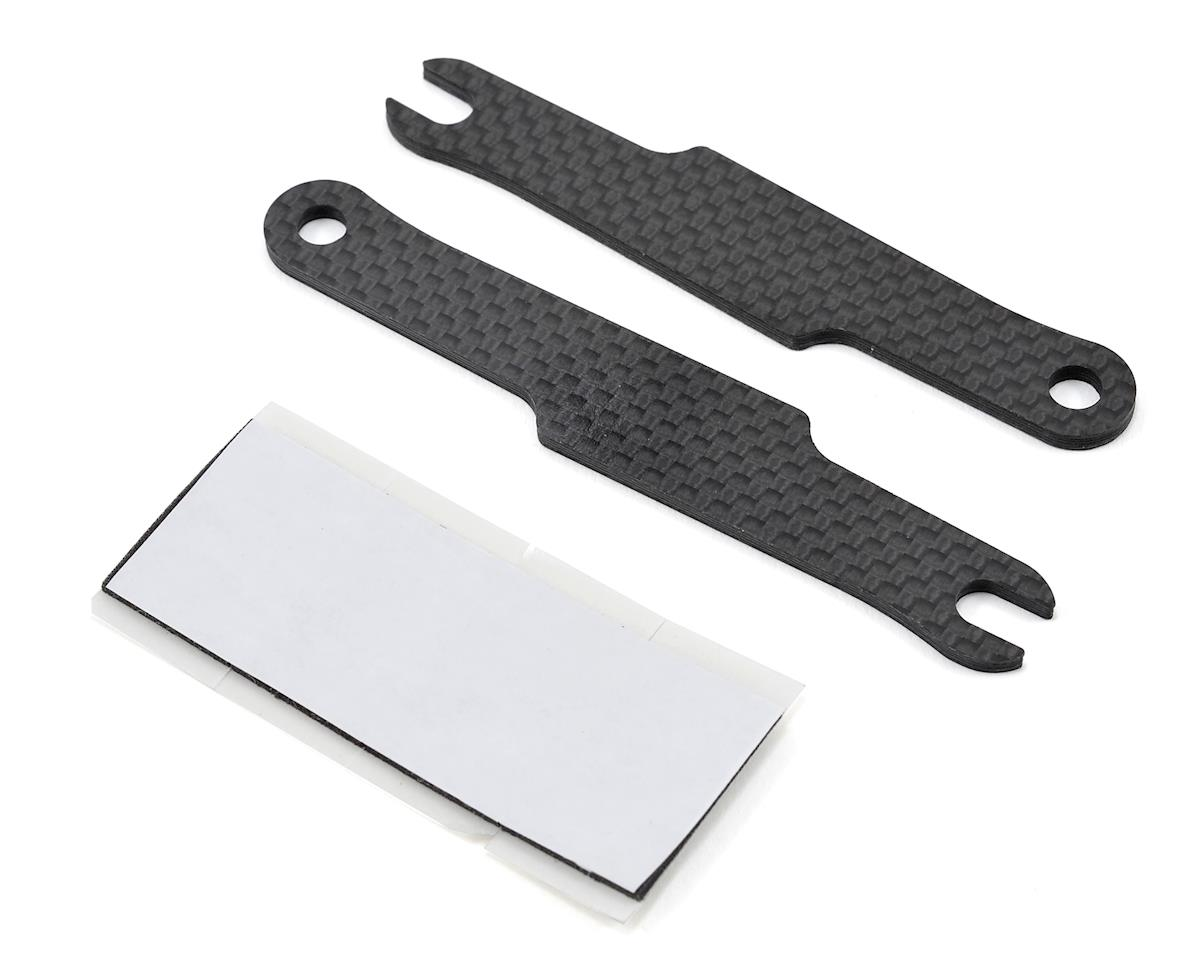 Schumacher Carbon LiPo Battery Strap Set w/Adhesive Pads