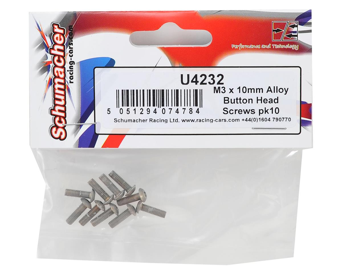 Schumacher 3x10mm Aluminum Button Head Hex Screw (10)