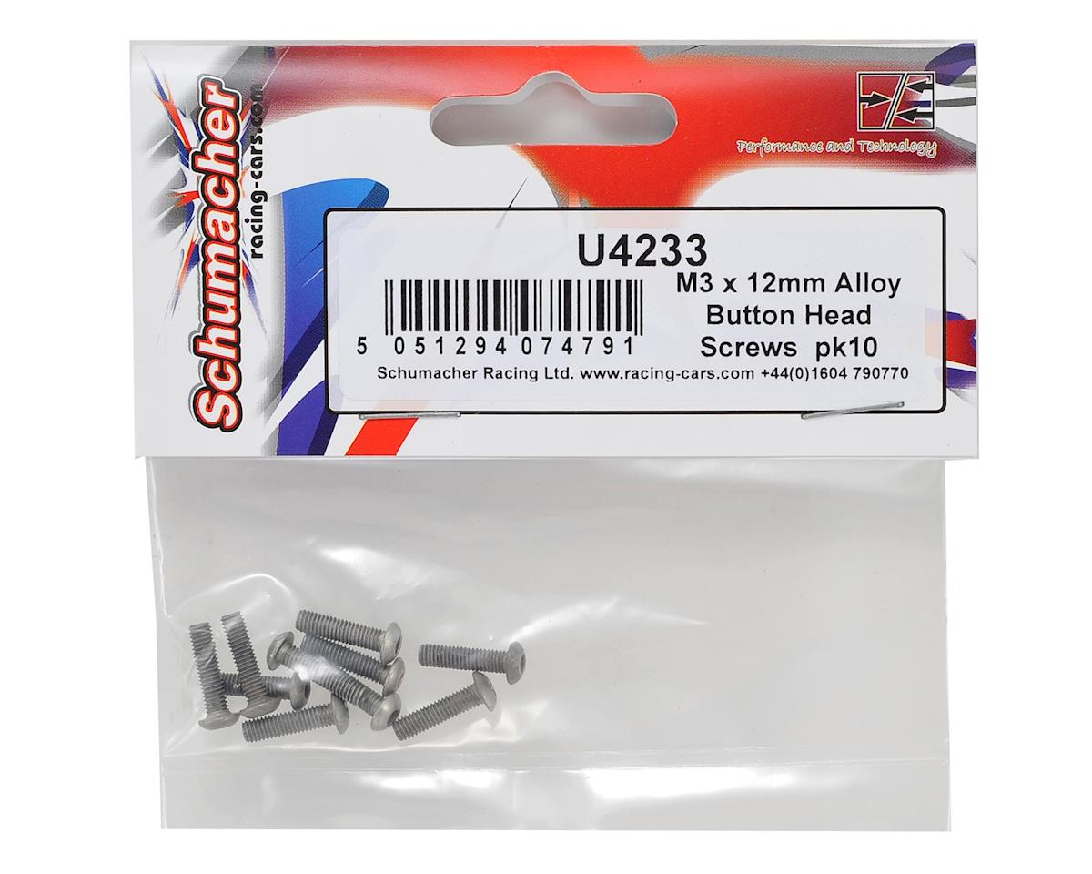 Schumacher 3x12mm Aluminum Button Head Hex Screw (10)