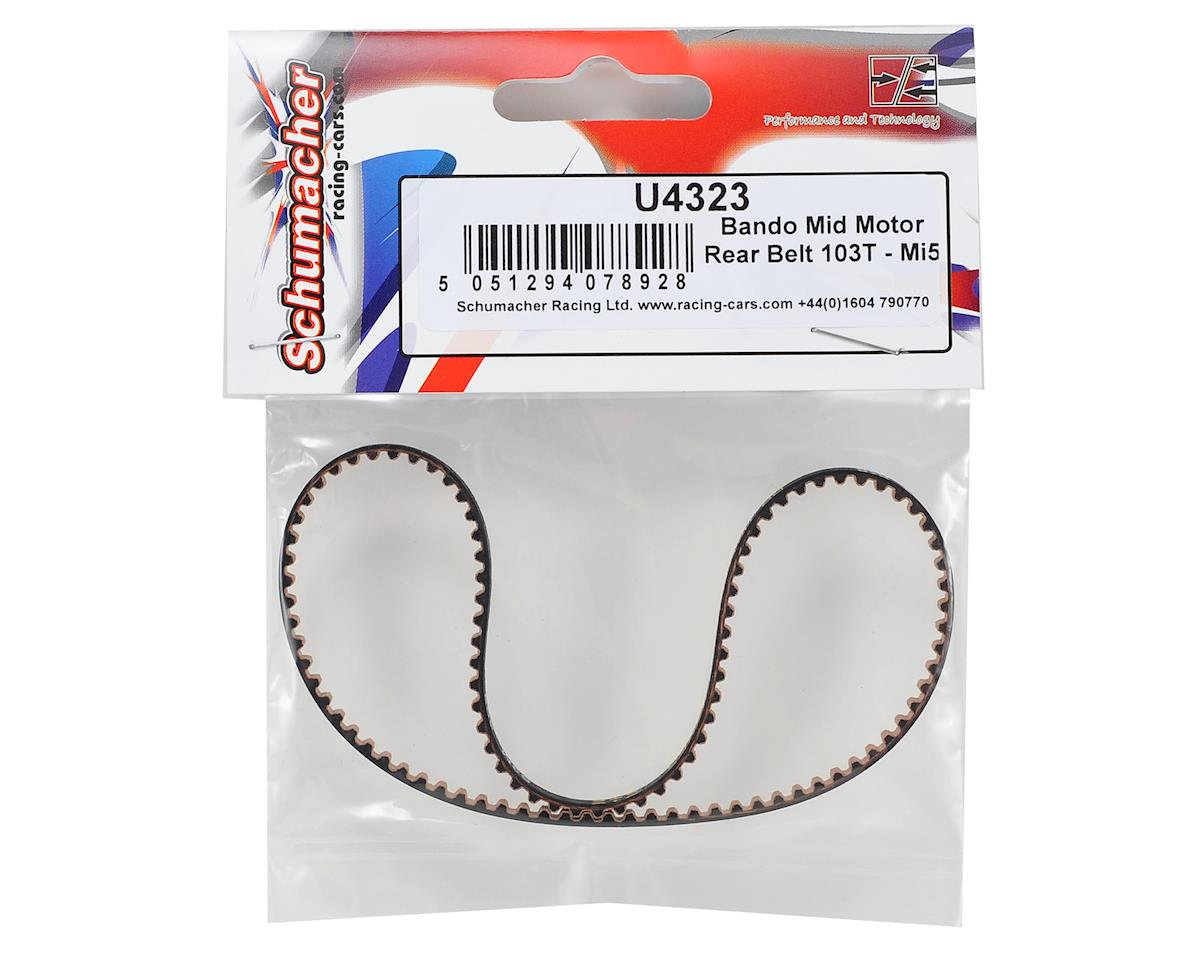 Schumacher Bando Mid Motor Rear Belt (103T)