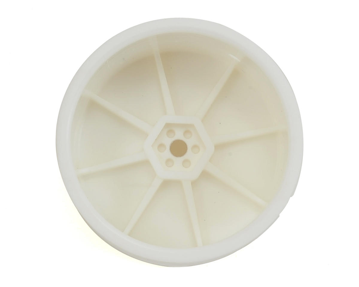 Schumacher 12mm 1/10 Buggy Rear Hex Wheels (White) (2)