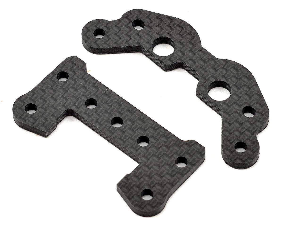 Schumacher Front & Rear Carbon Fiber Link Mount Set
