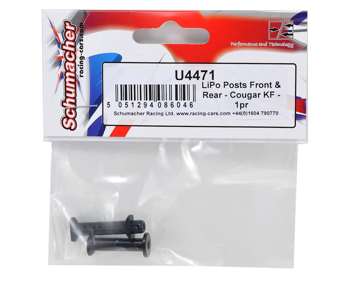 Schumacher Cougar KF Front & Rear LiPo Post Set