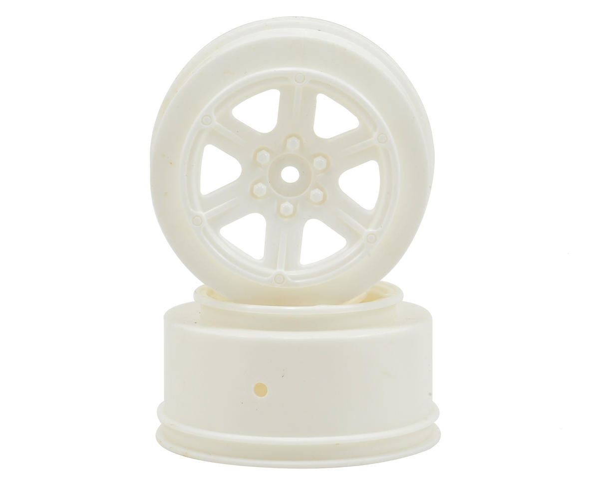 12mm Hex 6-Spoke Short Course Wheels w/3mm Offset (White) (2) by Schumacher