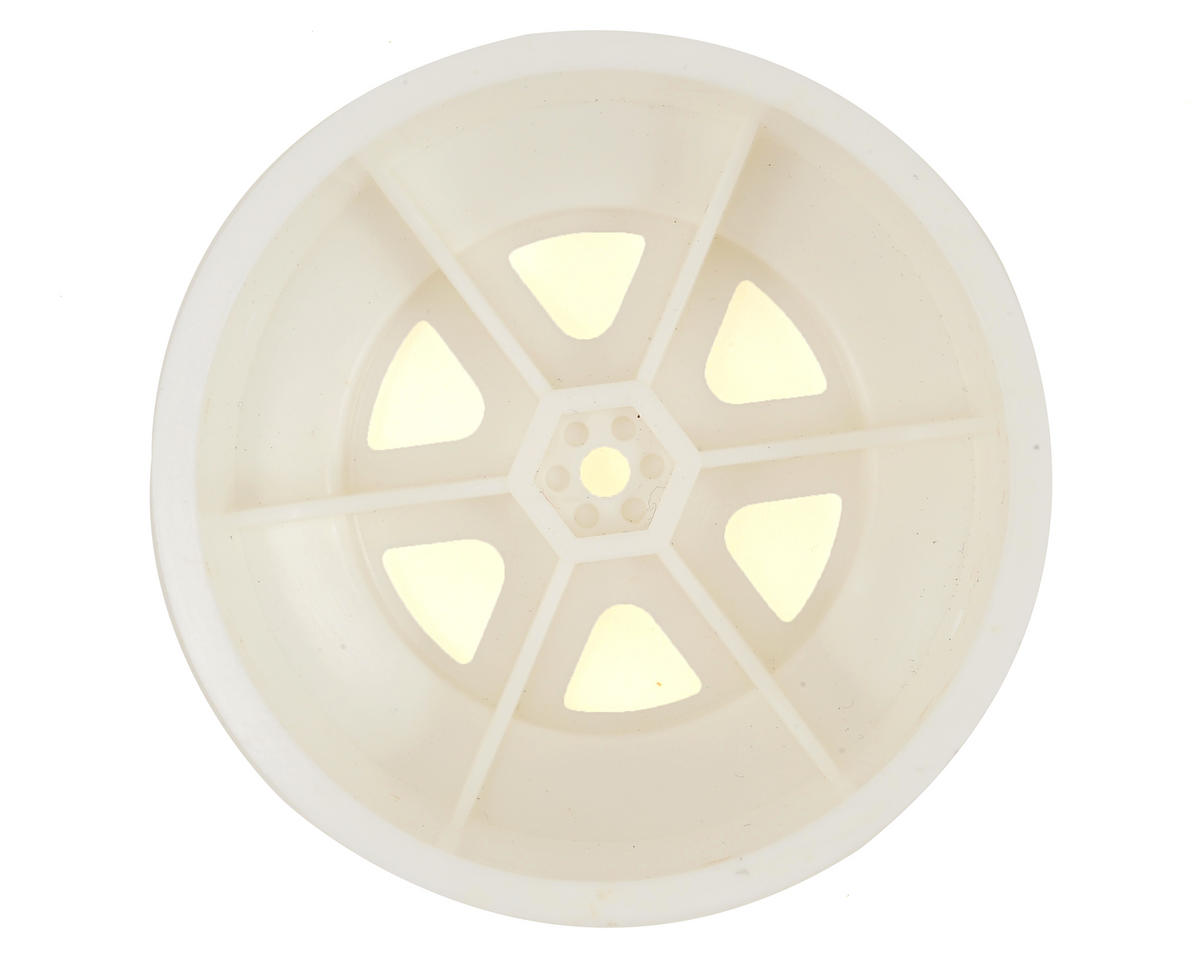 Schumacher 12mm Hex 6-Spoke Short Course Wheels w/3mm Offset (White) (2)