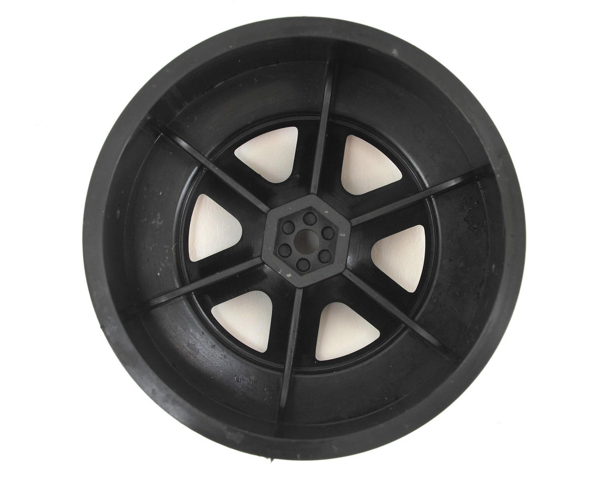 Schumacher 12mm Hex 6-Spoke Short Course Wheels w/3mm Offset (Black) (2)