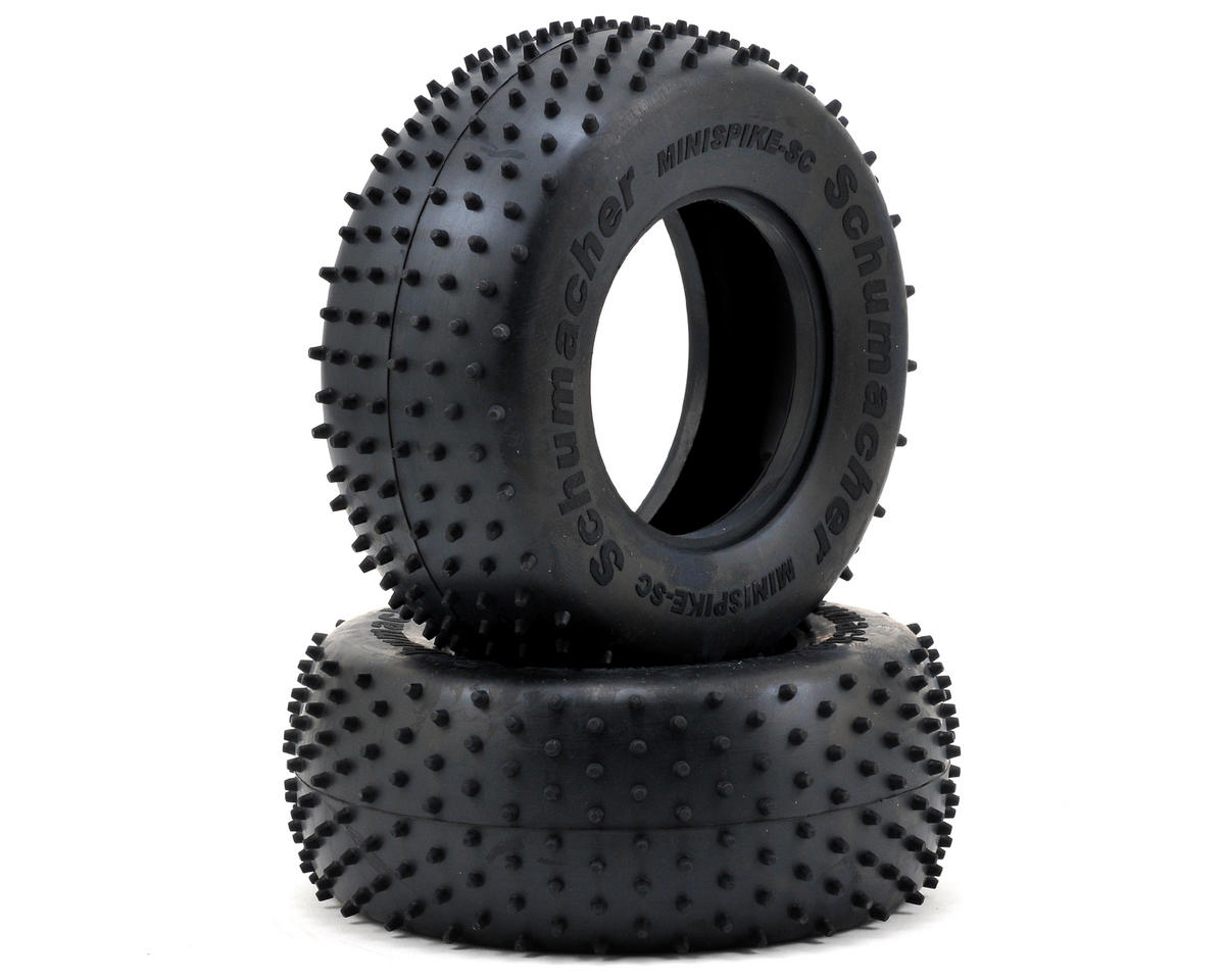 """Mini Spike"" Short Course Truck Tires (2) (Blue) by Schumacher"