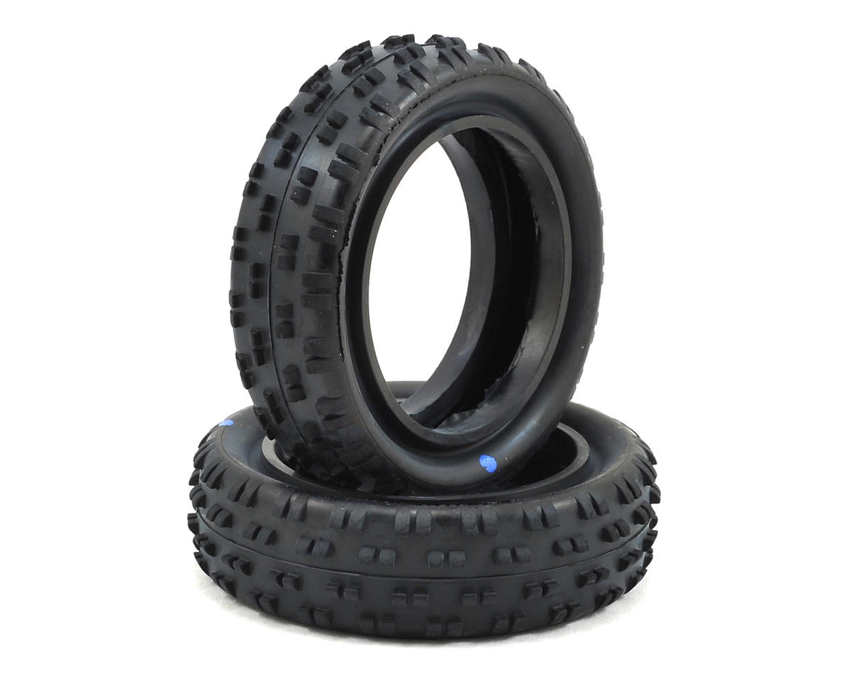 "Schumacher ""Cut Stagger"" Low Profile 2.2"" 1/10 2WD Buggy Front Turf Tires (2) (Blue)"