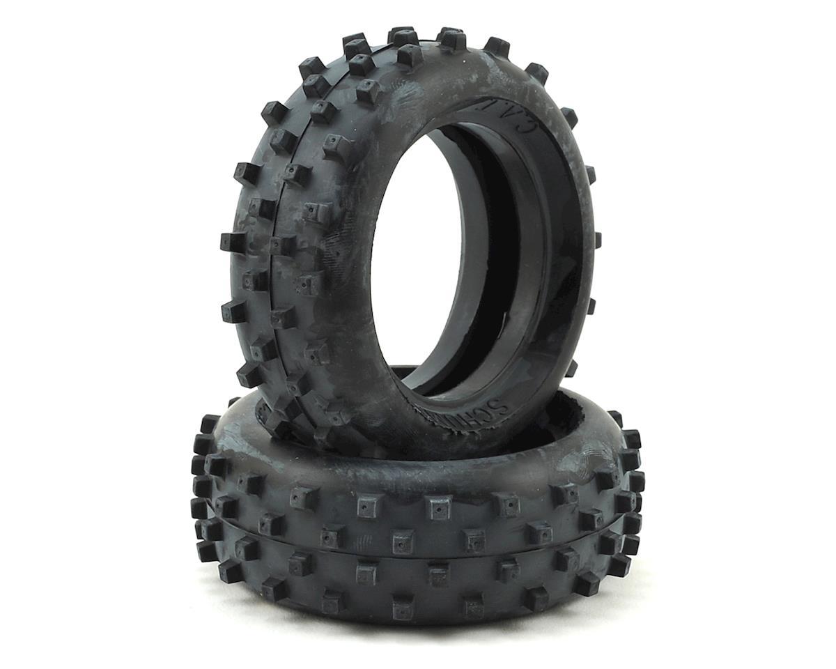 "Schumacher ""Block"" 1/10 Buggy Front Carpet Tires (2) (Yellow)"