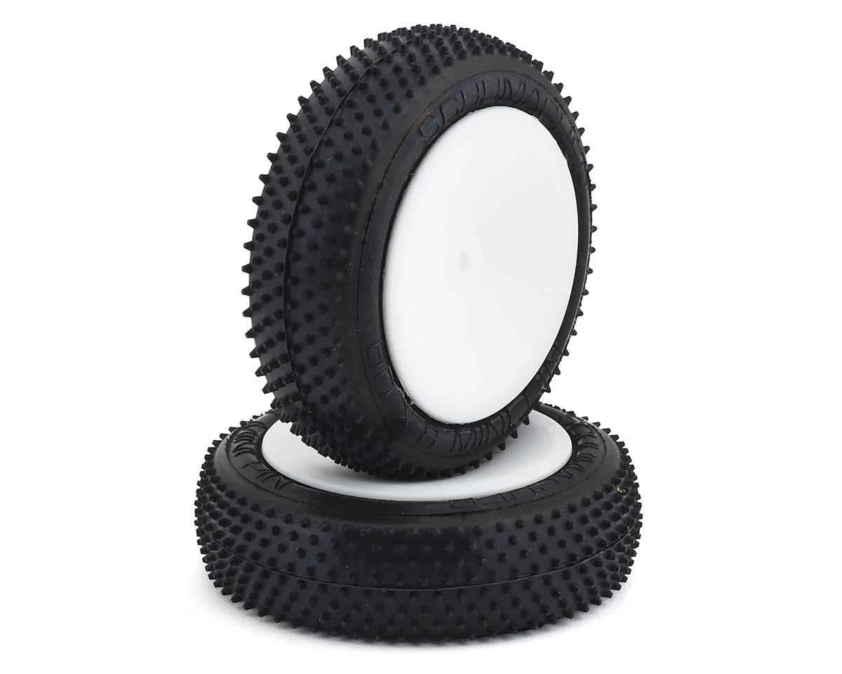 "Schumacher Mini Pin Slim Pre-mounted 2.2"" 1/10 Front Tires (2) (White)"