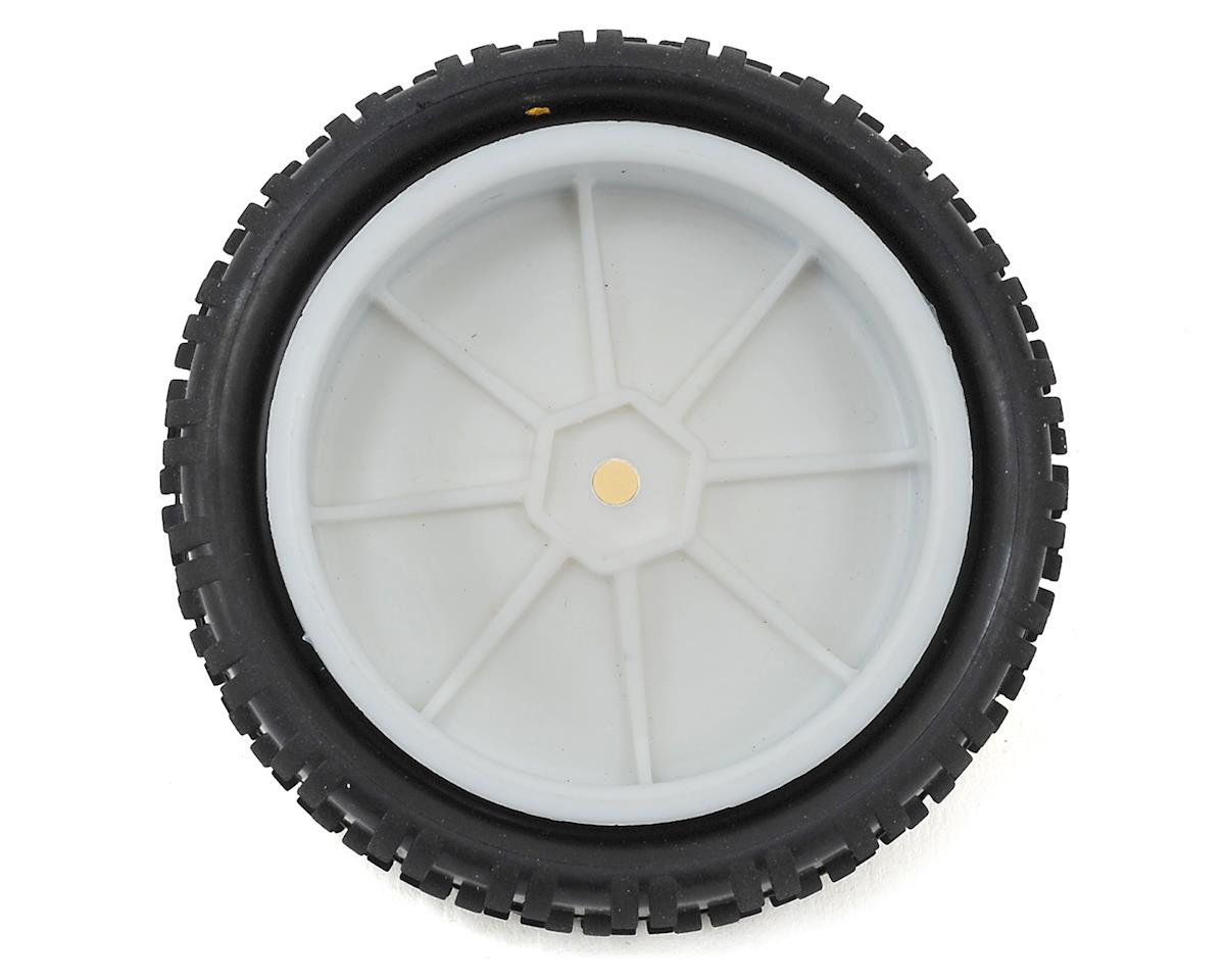 """Cut Stagger"" Pre-Mounted 2.2"" 2WD Front Carpet Tires (White) (2) (Yellow) by Schumacher"