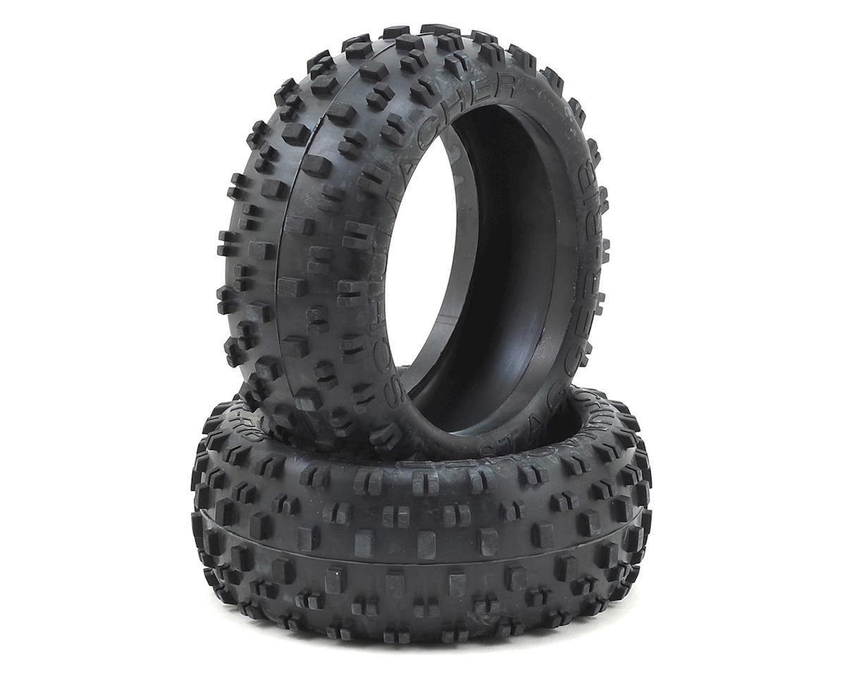 Schumacher Stagger Rib 1/8 Buggy Tire (2) (Silver)
