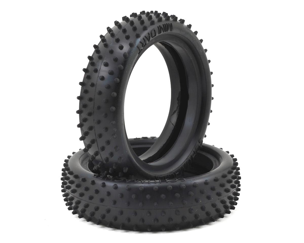 """Mini Dart"" 2.2"" 2WD Buggy Front Carpet Tire (2) (Blue) by Schumacher"