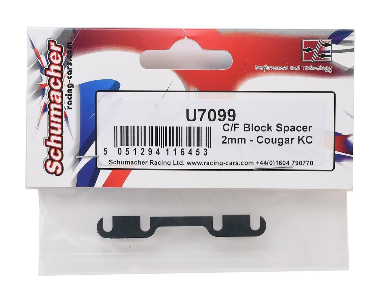 Schumacher 2mm Cougar KC Carbon Fiber Block Spacer