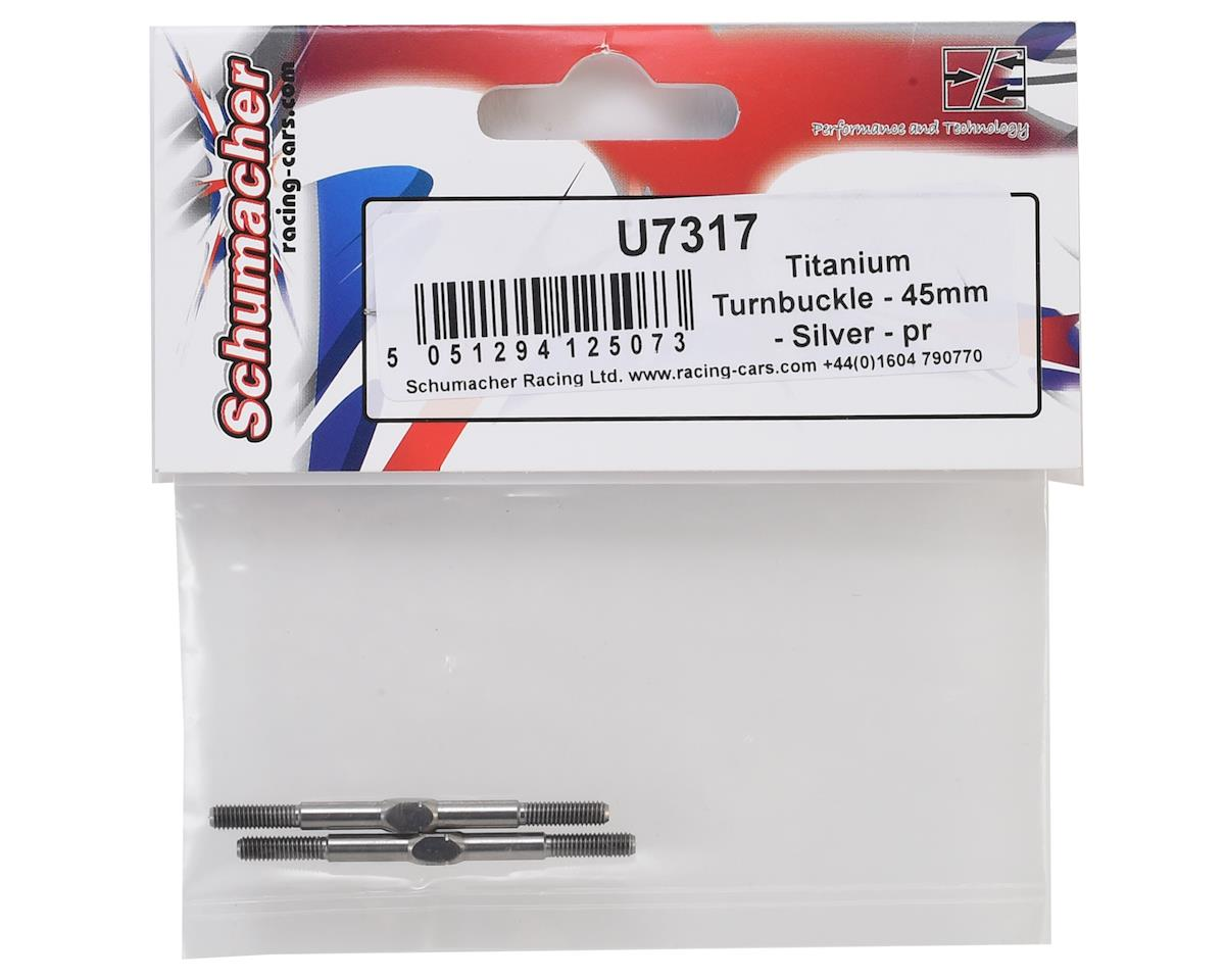 Schumacher 45mm Titanium Turnbuckle (Silver) (2)