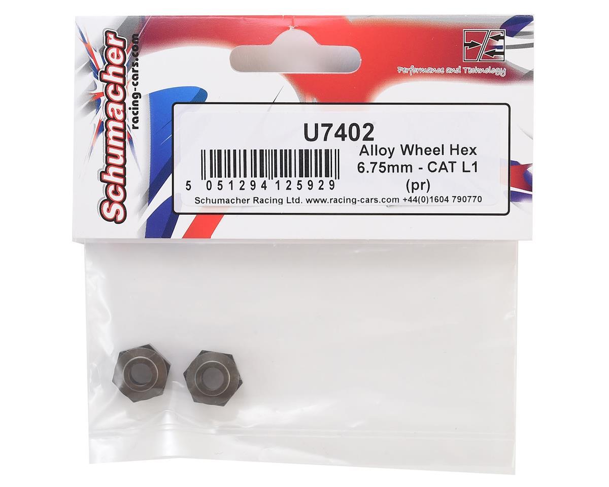 Schumacher 6.75mm Aluminum Alloy Wheel Hex (2) (+0.75mm)