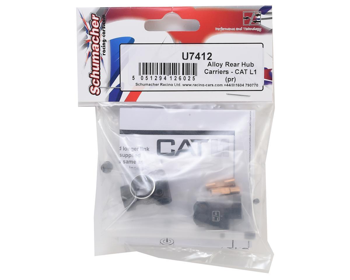 Schumacher CAT L1 Aluminum Alloy Rear Hub Carriers (2)