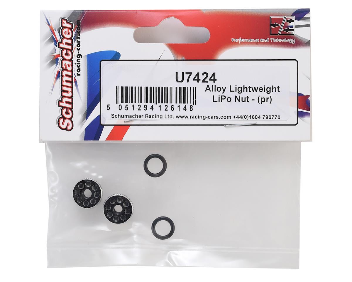 Schumacher CAT L1 Aluminum Alloy Lightweight LiPo Battery Nut (2)