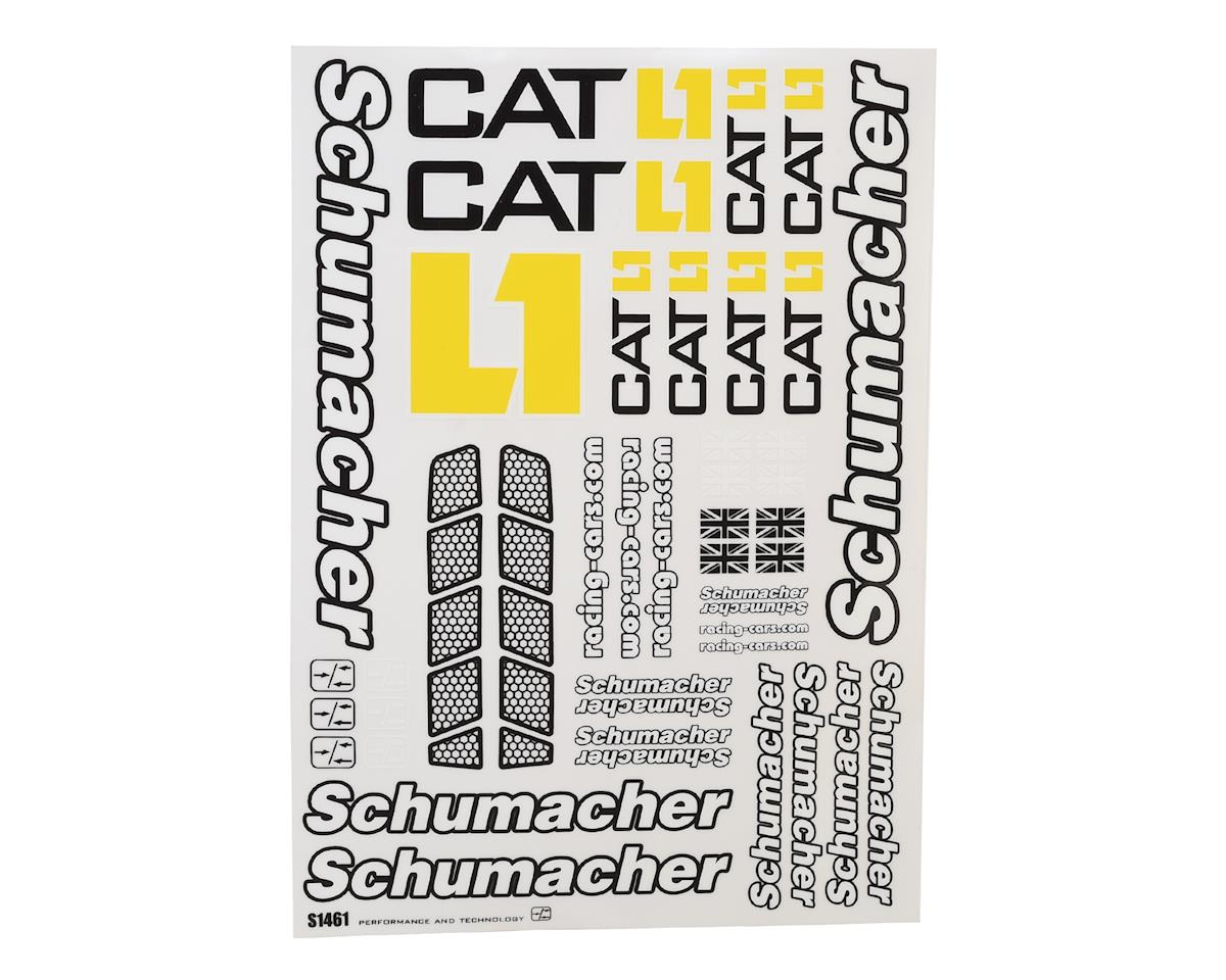 Schumacher CAT K1 Decal Sheet