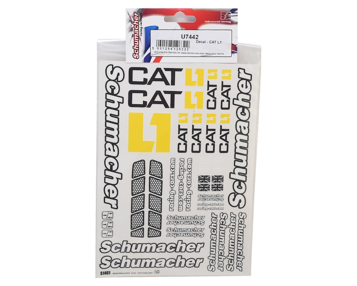 Schumacher CAT K1 Decal Sheet