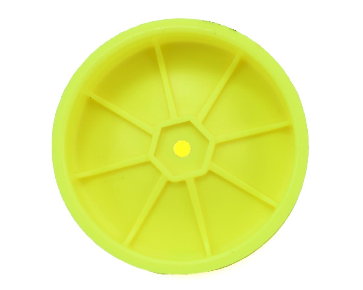 Schumacher 12mm 1/10 2WD Buggy Front Hex Wheels (Yellow) (10) (Slim)