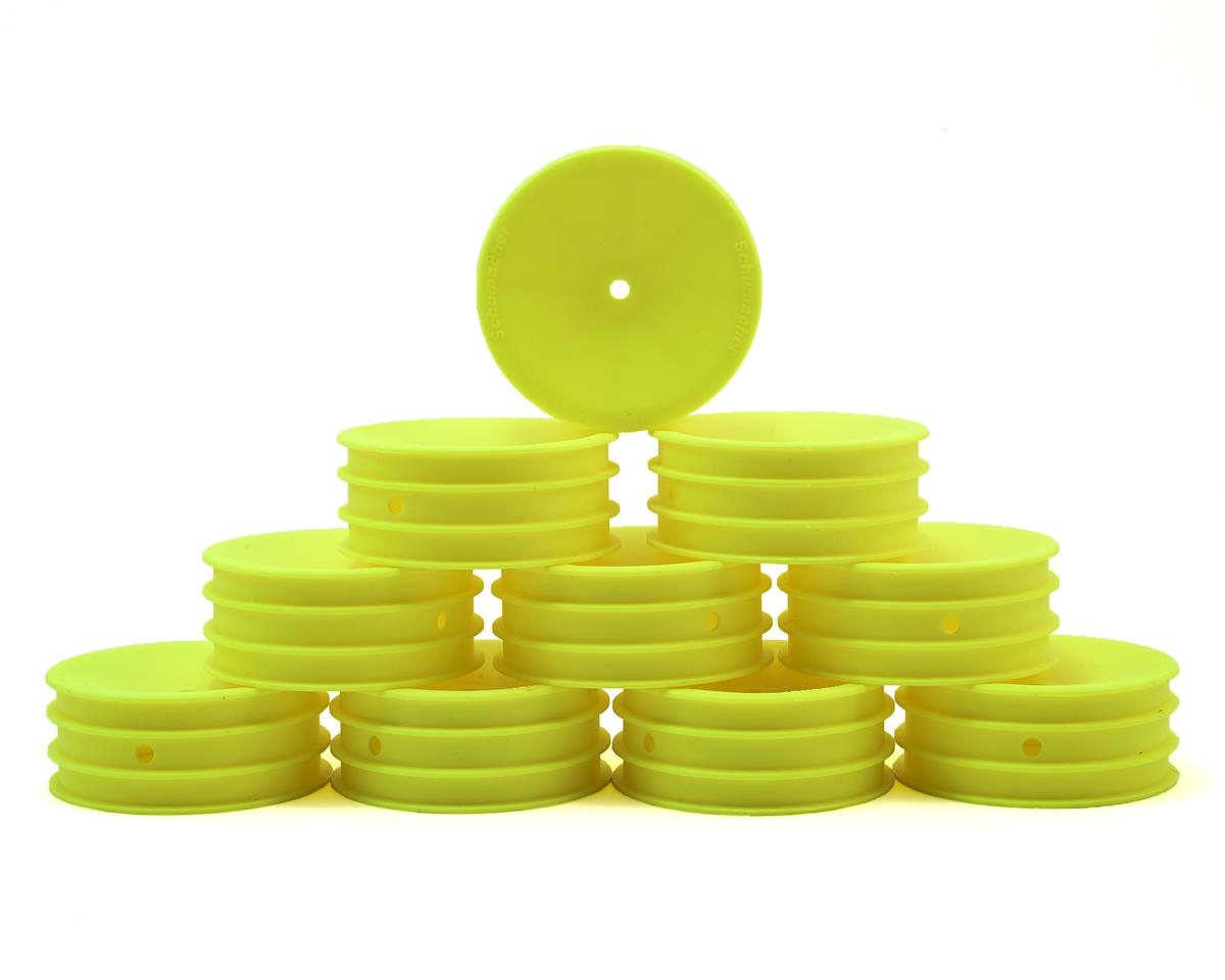 Schumacher 12mm Hex 1/10 2WD Front Buggy Wheel (Yellow) (10) (Medium)