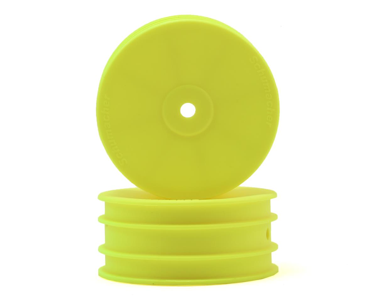 Schumacher 12mm 1/10 4WD Buggy Front Hex Wheels (Yellow) (2)