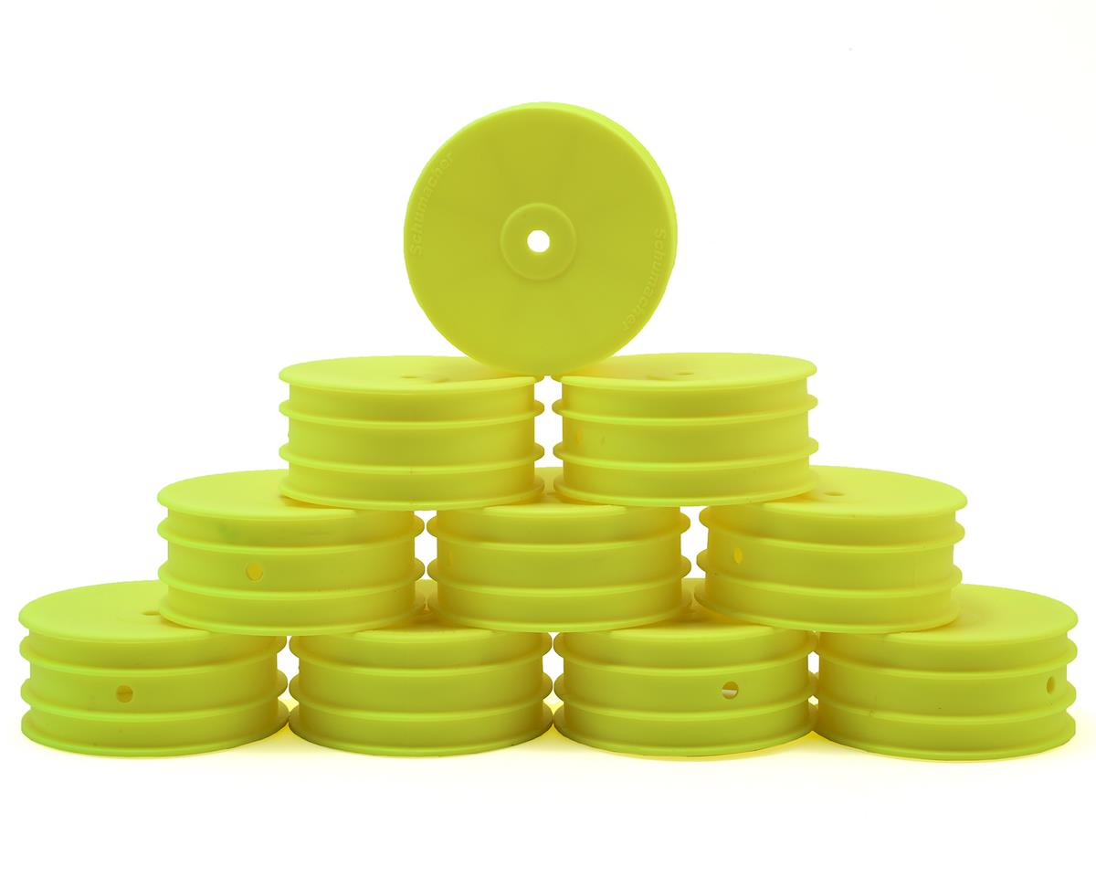 12mm 1/10 4WD Buggy Front Hex Wheels (Yellow) (10) by Schumacher