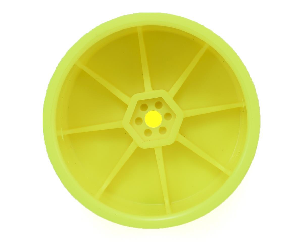 Schumacher 12mm 1/10 Buggy Rear Hex Wheels (Yellow) (10)