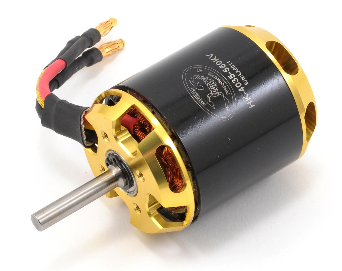 HKIII-4035-560 Brushless Motor w/6mm Shaft (4200W, 560kV) by Scorpion