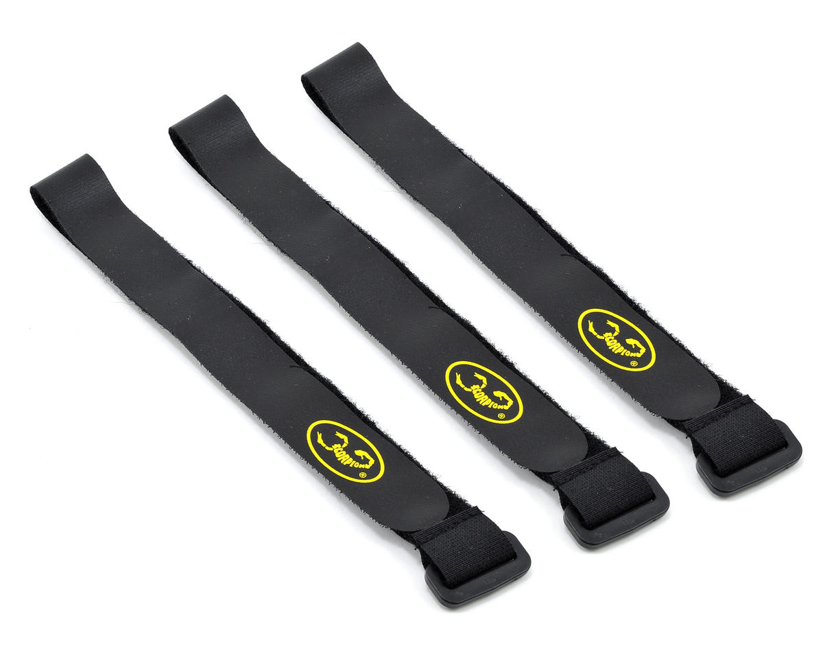 Scorpion Battery Lock Strap Set (3) (X-Large) (Thunder Tiger Raptor 90 G4E)