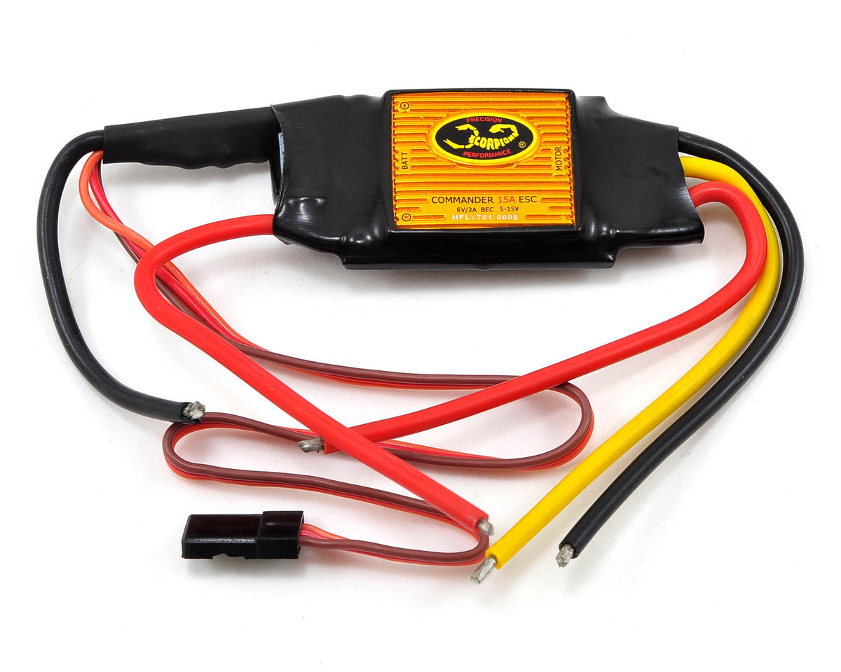 Scorpion Commander V3 15 Amp 4-Cell ESC (LBEC)