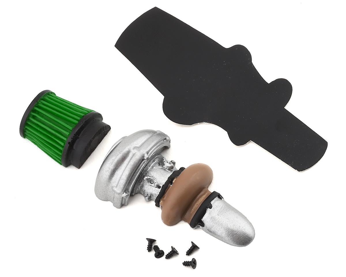 Sideways RC Scale Drift Half Turbo w/Cone Filter (Green)