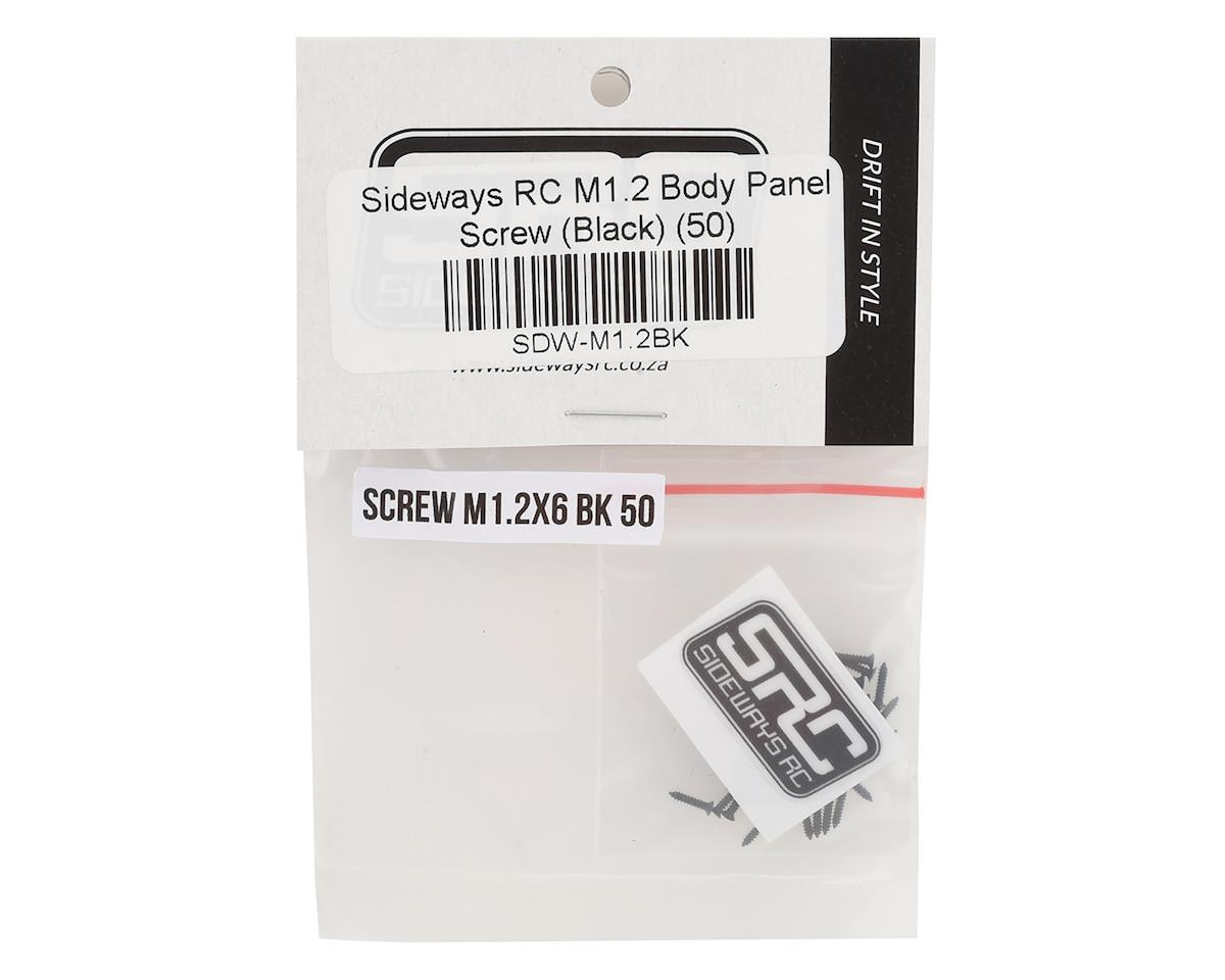 Sideways RC Scale Drift M1.2 Body Panel Screw (Black) (50)