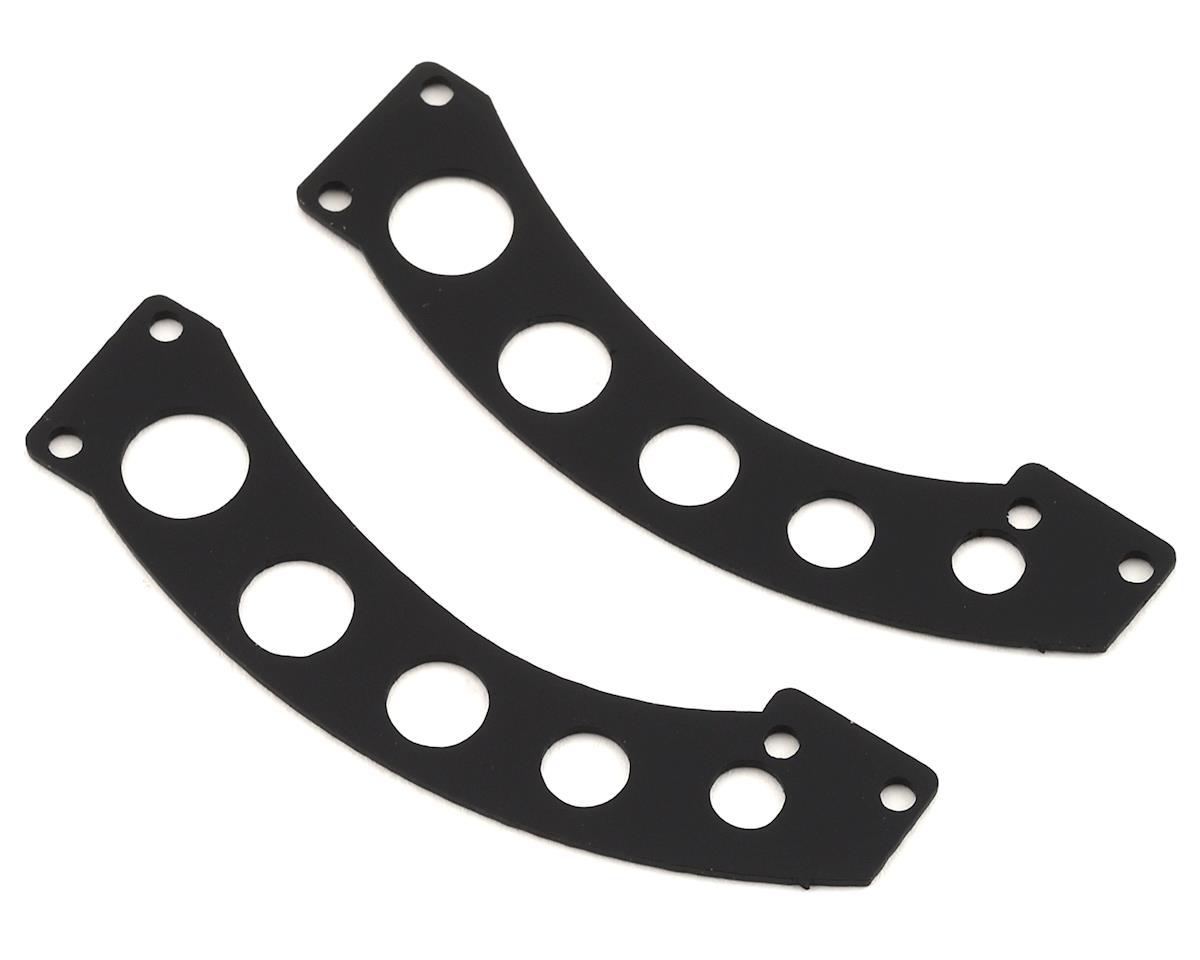 Sideways RC Scale Drift Custom Wing Mount (Black) (Style 12) (Yokomo YD-2)