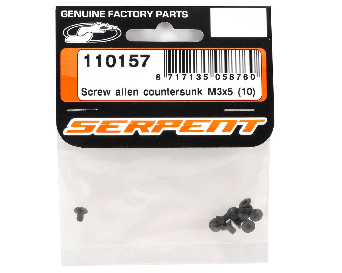 3x5mm Flat Head Screw (10) by Serpent