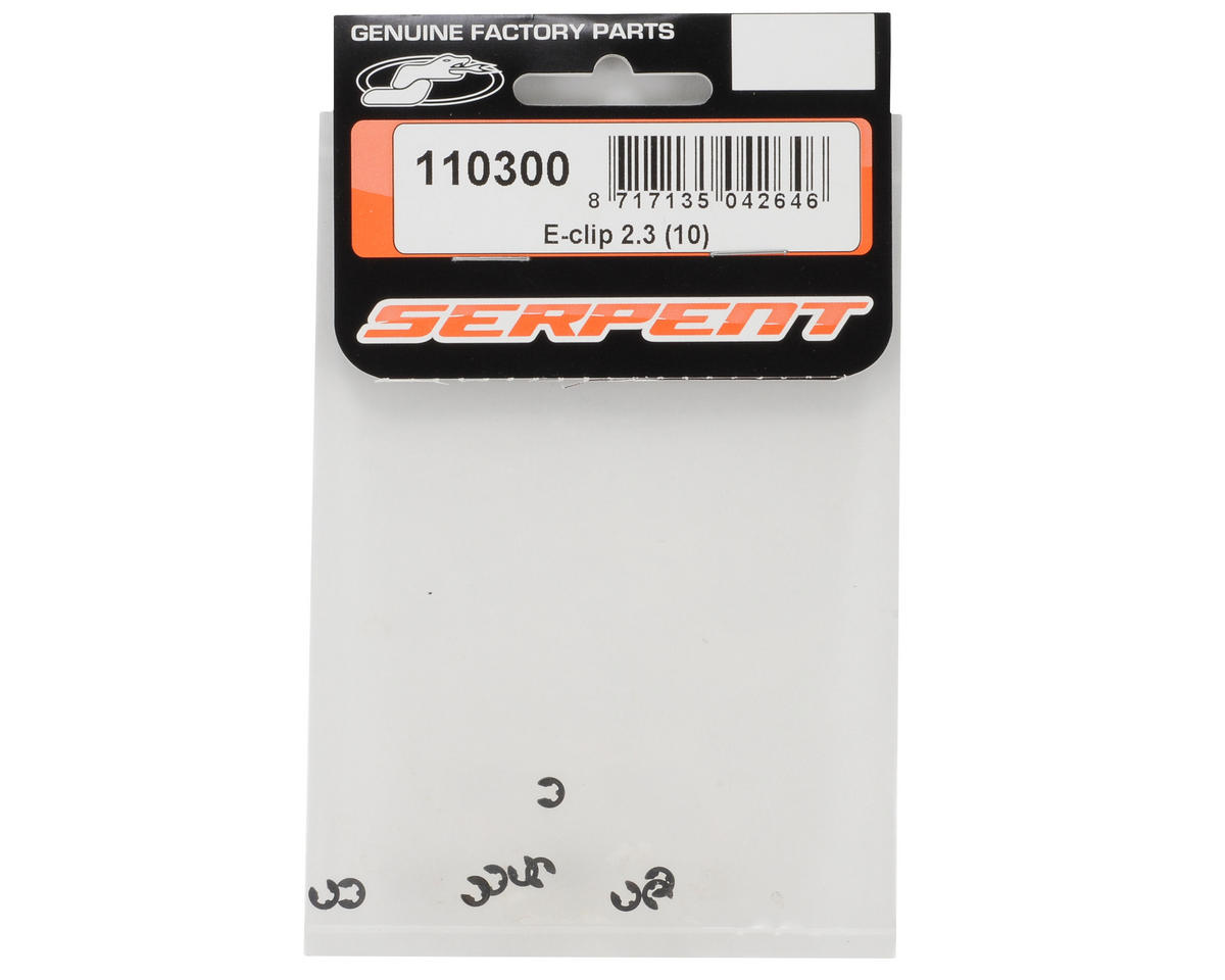 Serpent 2.3mm E-Clip (10)
