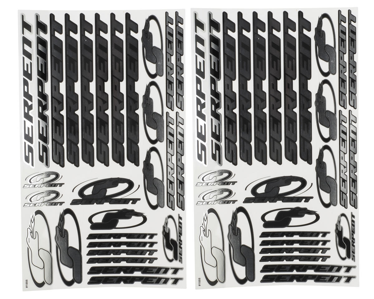 Serpent 1/10 Decal Sheet (Chrome) (2)