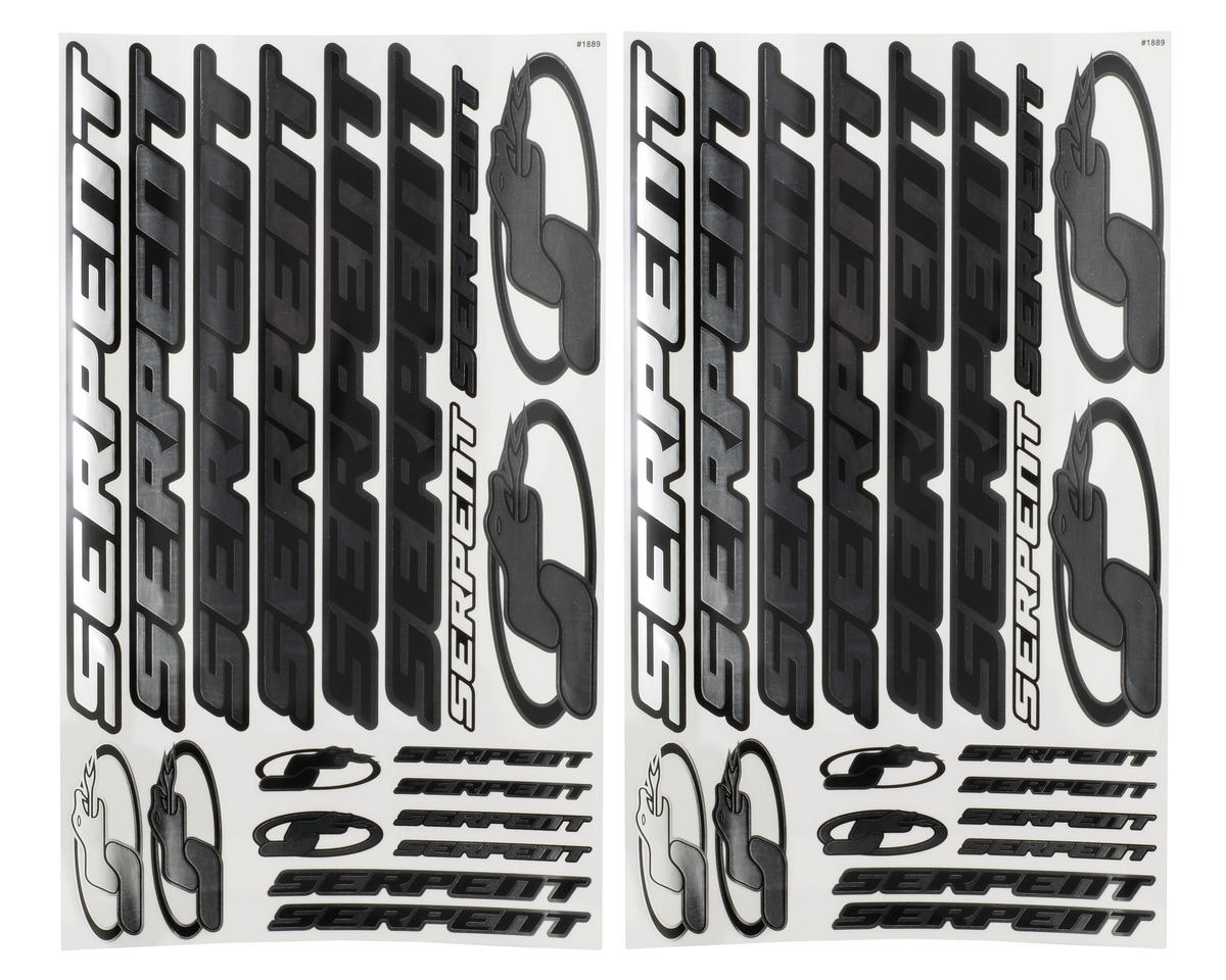 Serpent 1/8 Decal Sheet (Chrome) (2)