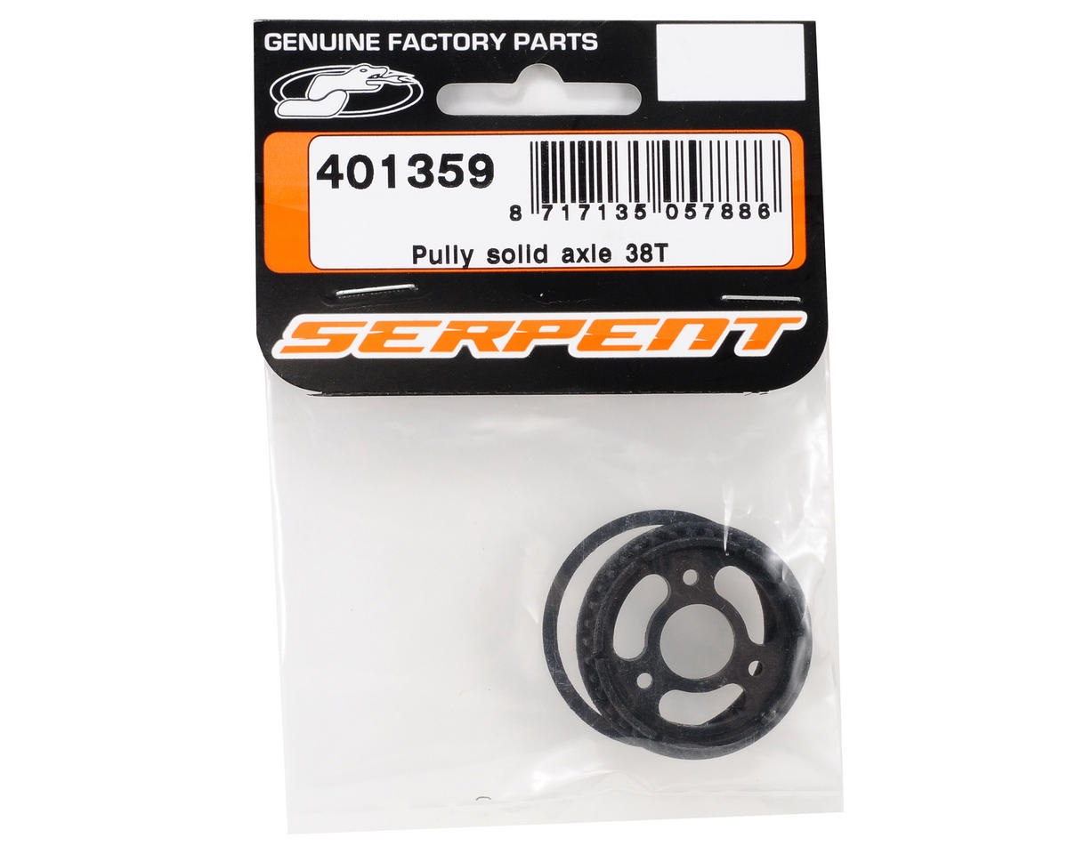 Serpent Solid Axle Pulley (38T)
