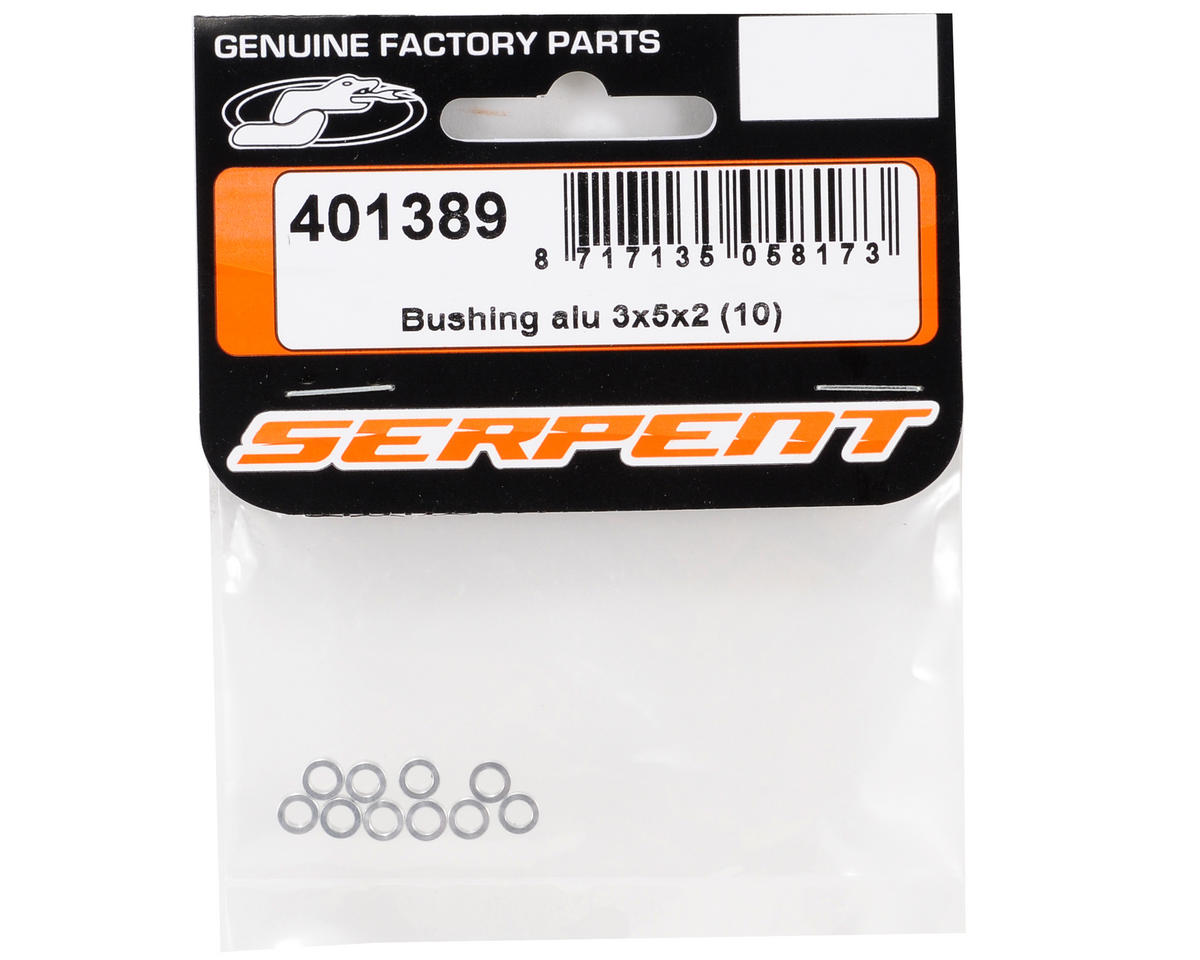 Serpent 3x5x2mm Aluminum Bushing Set (10) (Silver)