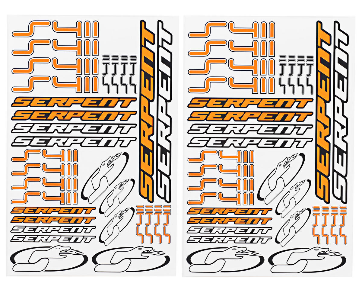 Serpent S411 Decal Sheet (2)
